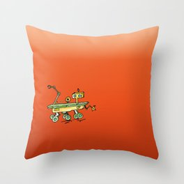 Curiosity, the rover Throw Pillow