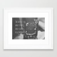 da vinci Framed Art Prints featuring See Leonardo da Vinci by KimberosePhotography