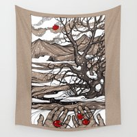 cherry Wall Tapestries featuring Cherry by Iris V.
