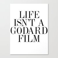 godard Canvas Prints featuring Life isn't a Godard film by rosemilk