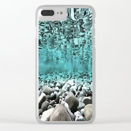 Time To Reflect, Dive Deeper Clear iPhone Case