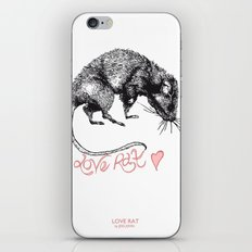 love rat iPhone & iPod Skin