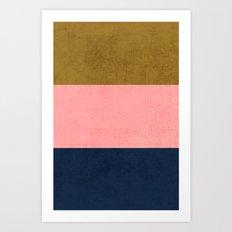 three stripes - classic Art Print