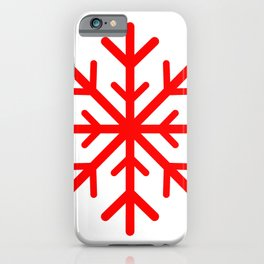 Snowflake (Red & White) iPhone Case