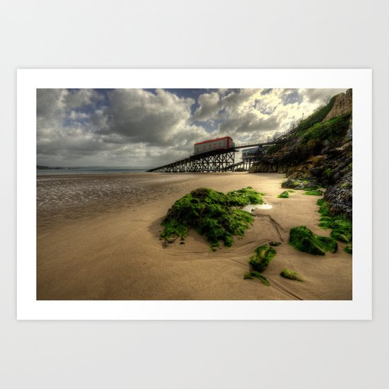 Lifeboat Ramp at Tenby  Art Print