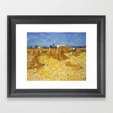 Corn Harvest in Provence by Vincent van Gogh Framed Art Print