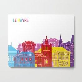 Le Havre skyline pop Metal Print