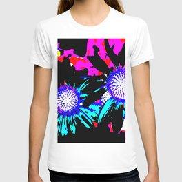Black Funky Flowers T-shirt