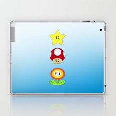 Super Mario Bros Star, Mushroom and Flower Laptop & iPad Skin