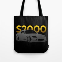 honda Tote Bags featuring Honda S2000 by Vehicle