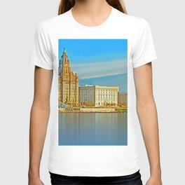 Water front Liverpool (Digital Art) T-shirt