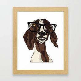 Hipster Goat Framed Art Print