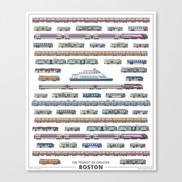 The Transit of Greater Boston Canvas Print
