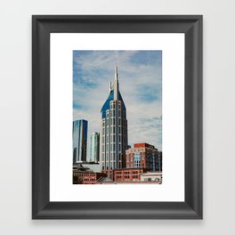 Nashville Skyline Framed Art Print