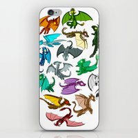 dragons iPhone & iPod Skins featuring Dragons by prpldragon