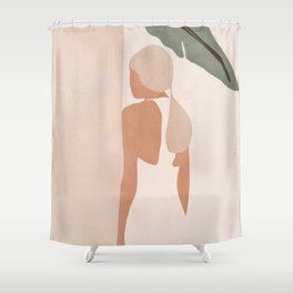 Abstract Woman in a Dress Shower Curtain