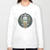 finn and jake Long Sleeve T-shirts featuring  Finn X Jake by saimen