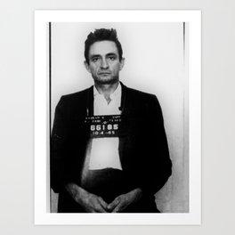 Johnny Cash Mug Shot Vertical Art Print