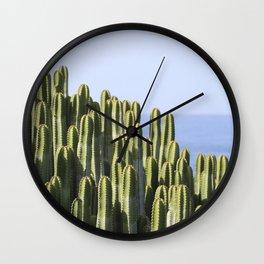 Ocean Cactus Wall Clock