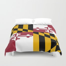 Maryland State Flag, Hi Def image Duvet Cover