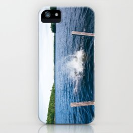 Lake Splash iPhone Case