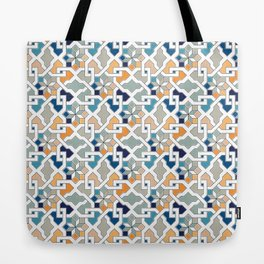Geometric Pattern - Oriental Design Tote Bag