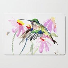 Hummingbird and Light Purple Flowers, birds and flowers Cutting Board