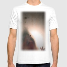 man SMALL White Mens Fitted Tee