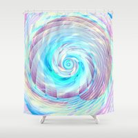 cycle Shower Curtains featuring Spin cycle  by Truly Juel
