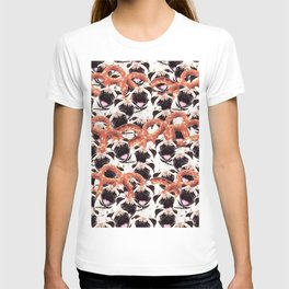 Funny Pug Pretzel Crazy Collage T-shirt