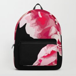 Pink Tulip Flower On A Black Background #decor #society6 #homedecor Backpack