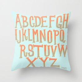 the ABC's Throw Pillow