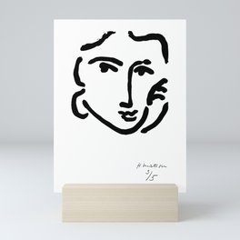 Henri Matisse Nadia With a Serious Expression, Original Artwork, Tshirts, Prints, Posters Mini Art Print