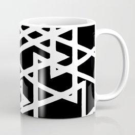 Interlocking White Triangles Artistic Design Coffee Mug