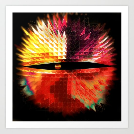 The Eye Beholds: Two Art Print