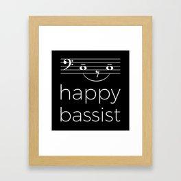 Happy bassist (dark colors) Framed Art Print