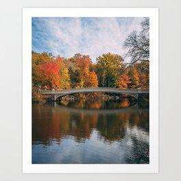 Bow Bridge Autumn 06 Art Print
