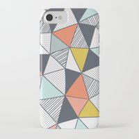 triangles iPhone & iPod Cases featuring Triangles by Patterns and Textures