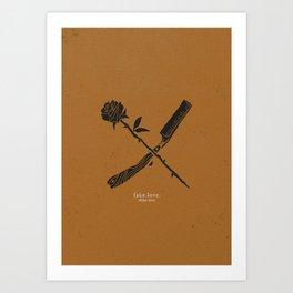 Fake Love - II Art Print