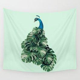 MONSTERA BIRD Wall Tapestry
