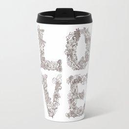 L O V E / grey Travel Mug