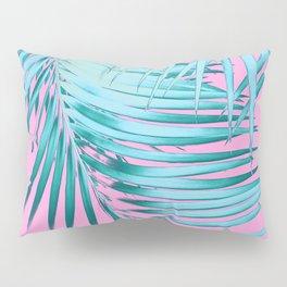 Palm Leaves Pink Blue Vibes #1 #tropical #decor #art #society6 Pillow Sham