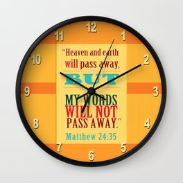 Not Pass Away Wall Clock