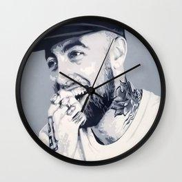 Mac Miller Spray Painting Wall Clock