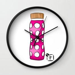 Pink Water Bottle Wall Clock