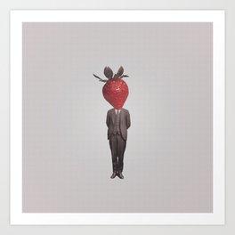 Strawberry Mugshot Art Print