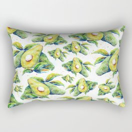 Avocados - Watercolor Rectangular Pillow