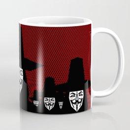 Million Mask March Coffee Mug