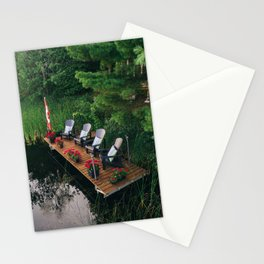 Dock at the cottage Stationery Cards