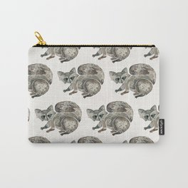 Raccoon – Warm Grey Palette Carry-All Pouch